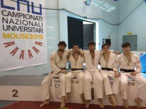 Squadra CUS Napoli - Oro (Nasti Aldo, Stefanelli Raffaele, D'arco Salvatore, Capuozzo Salvatore e Nasti Francesco)