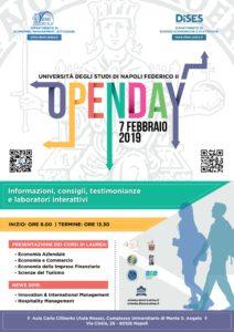 openday federico II - locandina