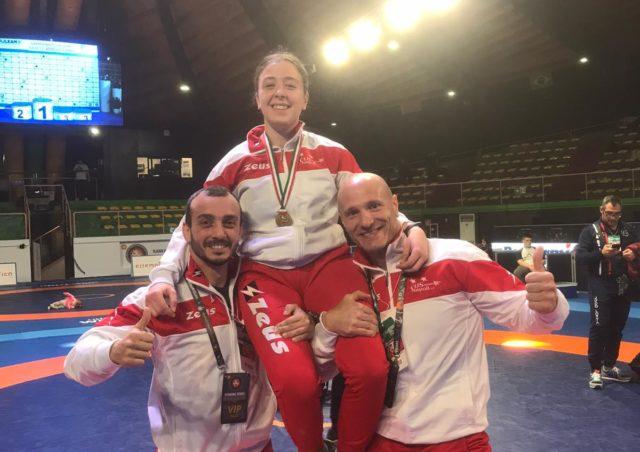 Lotta – Campionati Italiani Cadetti: Bronzo per la cusina Veronica Lomaistro