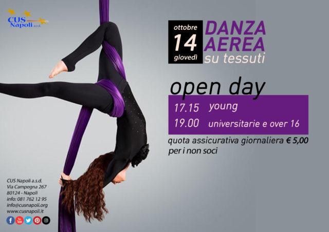 14 ottobre: Open Day di Danza Aerea su Tessuti