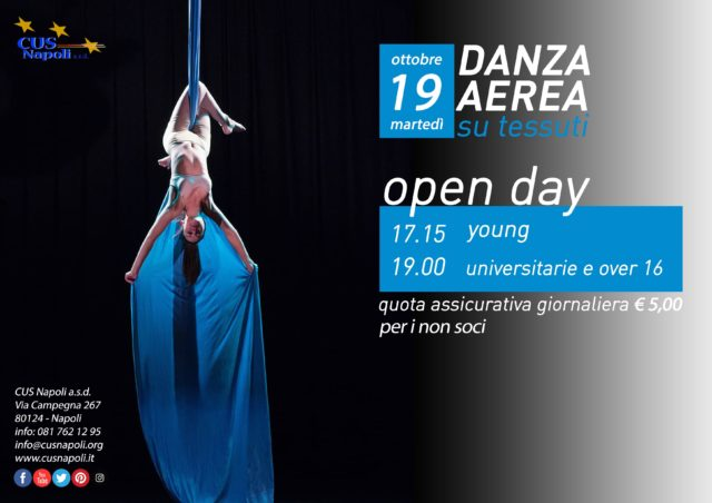 19 ottobre: Open Day di Danza Aerea su Tessuti